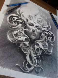 Incredible Pencil Drawing Images - Pencil drawing is not a easy job. Pencil art is an interesting and innovative art. Painting & Drawing, Drawing Tips, Et Tattoo, Tattoo Drawings, Medusa Tattoo, Drawn Art, Wow Art, Art Graphique, Pencil Drawings