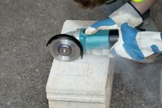 How to Cut Concrete Blocks With an Angle Grinder | eHow