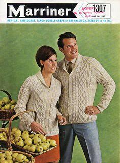 Womens Mens Aran Jackets Knitting Pattern PDF Download Aran Cardigan Shawl…