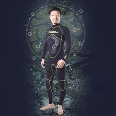 SLINX 3mm Men Neoprene Wetsuit Diving Winter Swimming Surfing Windsurfing Snorkelling Full Bodysuit Swimwear