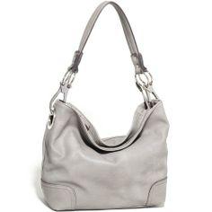 Women's Classic Fashion Hobo Bag w/ Detachable Shoulder Strap -Light Grey Fashlets Handbags http://www.amazon.com/dp/B00BTB6D9Q/ref=cm_sw_r_pi_dp_GEQJtb1RMCZHFZR9
