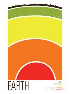 Erde Serigrafie von Brainstorm bei AllPosters.de