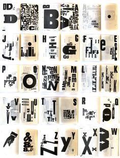 """abecedarium""   letterpress by Cabaret Typographie  http://cabarettypographie.tumblr.com/ letterpress, poster, type, typography, letters, wood type"