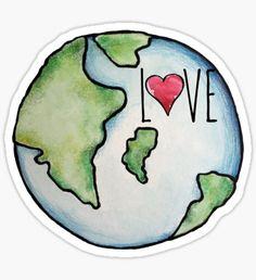 LOVE earth day Sticker