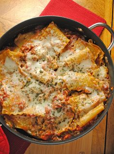 An easy one-skillet lasagna, made with Land O Lakes® new Sauté Express® Sauté Starter! Easy, quick, and meat-free! Side Recipes, Beef Recipes, Italian Recipes, Great Recipes, Favorite Recipes, Italian Meals, Meatless Recipes, Interesting Recipes, Italian Dishes