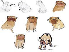 Chantal Marie Illustration: Pugs!
