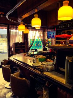 Cafe Design, Store Design, Cafe Interior, Interior Design, Japanese Countryside, Japanese Bar, Japanese Buildings, Retro Cafe, American Diner