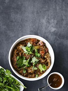 Curry med lam og løksaus