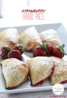 Strawberry Hand Pies // total perfection for brunch or outdoor parties, yum!!! via Inspired by Charm #appetizer #ayearofpie