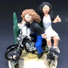 #lesbians #gaywedding #gaymarriage #lesbian marriage #gay bikers #samesexwedding #samesex #honda #2brides #motorcycle #motorcyclebride #magicmud.com #1800-231-9814  lesbian wedding cake topper personalized