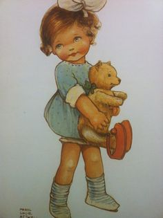 Vintage Childrens Art by Mabel Lucie Attwell Teddy Bear