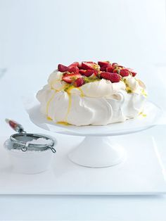 Try an Australian favourite - pavlova. Supplement the castor sugar for stevia or sweetaddin and just put fruit on top minus the cream. Delicious!