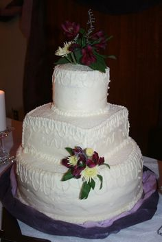 My daughter-in-law's first Wedding Cake creation!  (Made with love for her brother-in-law)