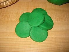 Counting Coconuts: Green and Gold Playdough - St. Patrick's Day