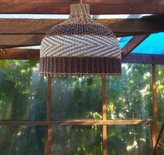 Плетение из газет Wicker Pendant Light, Weaving, Ceiling Lights, Lighting, Home Decor, Decoration Home, Room Decor, Lights, Loom Weaving