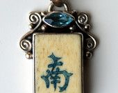 Vintage Sterling Silver Mah Jong Mahjong Tile Pendant - IT'S MINE! I just bought it on Etsy