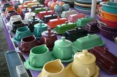 For some reason the colors of Fiestaware remind me of God's kindness:)