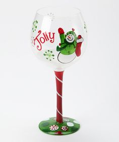 Take a look at this 'Jolly' Snowman Wine Glass by Home for the Holidays: Entertaining on #zulily today!