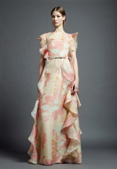 i LOVE the ruffle on the side, look Ready To Wear | Valentino