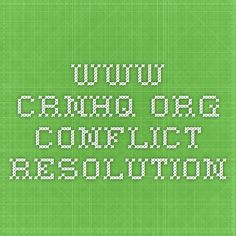www.crnhq.org conflict resolution