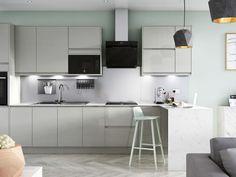 Grey Kitchen Cupboards, Kitchen Cupboard Doors, Kitchen Taps, Kitchen Units, New Kitchen, Kitchen Ideas, Kitchen Extension Exterior, Kitchen Gallery, Pewter