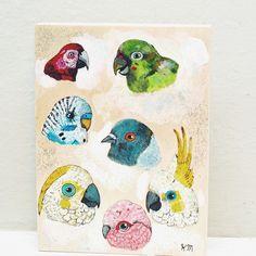 Bird painting on wood. #birds #art #painting #mixedmedia #original