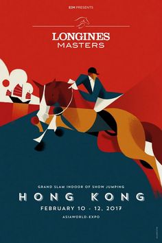 Three posters made for the Longines Masters, the Grand Slam Indoor of Show Jumping. Creative Poster Design, Creative Posters, Graphic Design Posters, Graphic Design Illustration, Design Art, Flat Design Poster, Poster Designs, Digital Illustration, Design Ideas