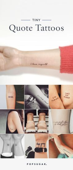 Inspiring words can motivate you — and there's no better way to remind yourself daily than with tattoos that will stand the test of time.