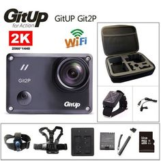 Action camera deportiva Original GitUp P Novatek 96660 remote Ultra HD WiFi sport go waterproof pro camera External microphone is optional accessory, not included for this Focus Images, Pro Camera, Video Camera, Camera Prices, Ali Express, Camera Accessories, Hd Video, Protective Cases, Sports