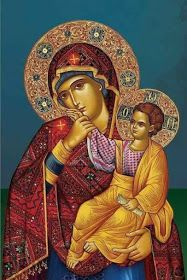 I like this as it's intricate, smart and pretty, a good to see unusual mix. Religious Pictures, Religious Icons, Religious Art, Madonna Art, Madonna And Child, Blessed Mother Mary, Blessed Virgin Mary, Queen Of Heaven, Mama Mary