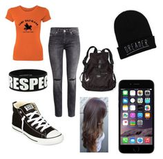 """Uh...go out and be awesome?"" by marvelteen14 ❤ liked on Polyvore featuring Victoria's Secret, Converse and H&M"