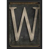 Found it at Wayfair - Letter W Framed Textual Art in Black and Gray