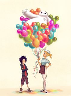 disney parks blog disney doodles ty amato of disney's yellow shoes creative group. hiro and baymax @ disney parks.