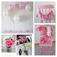 A Bubbly Life: Pink Girly Budget DIY First Birthday!
