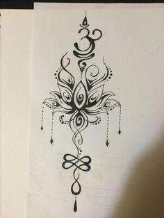 Tatuagem – Best Pins Live – tattoos - My Favorite Lotusblume Tattoo, Live Tattoo, Unalome Tattoo, Back Tattoo, Om Symbol Tattoo, Spine Tattoos, Leg Tattoos, Body Art Tattoos, Sleeve Tattoos