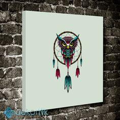 Renkli Baykuş Tablo #creative_tablolar #yaratıcı_tablolar #yaratıcıkanvastablolar