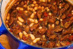 Recipe for Cannellini Bean and Sausage Stew with Tomatoes and Basil from Kalyns Kitchen