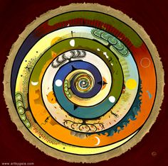 Wholeness Mandala - Spiritual Ascension Female Male Balance Shiva Shakti - Chakras Opening - Art by Gaia Orion