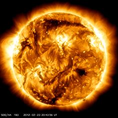 Our Sun, as captured by NASA and enhanced by me.