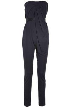 Halston Heritage|Draped strapless jumpsuit|NET-A-PORTER.COM