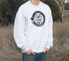 Screen Print Crewneck Sweatshirt Extinct by CounterFitCulture