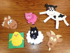Cute ideas for farm animal templates:  horse, pig, cow, chicken, sheep, and deer.