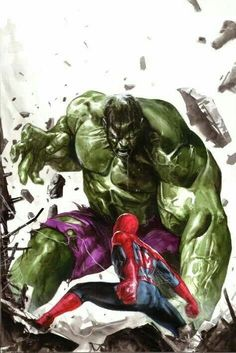 Hulk vs Spiderman by Gabriel Dell'otto