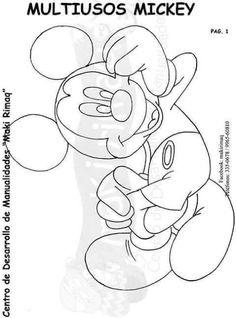 Eu Amo Artesanato: Porta treco do Mickey com molde Minnie Mouse Cartoons, Mickey E Minnie Mouse, Minnie Mouse Coloring Pages, Disney Coloring Pages, Disney Colors, Mickey And Friends, Cartoon Pics, Baby Disney, Drawing For Kids