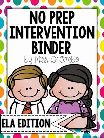 Miss DeCarbo: A Look Inside My Intervention Binder!