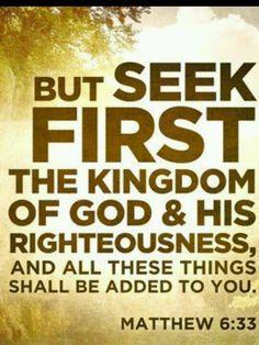 God first.