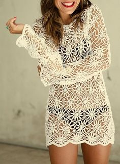 Lacy Daisy Tunic free crochet graph pattern