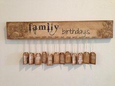 Art with Erna - FAMILY BIRTHDAY SIGN