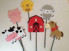 Juego de centros de animales de granja granero por ThePinkPapermill