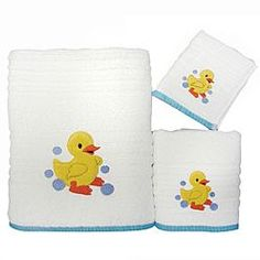 Superb Rubber Ducky Bathroom Accessories.  Rubber Duck Towel Collection
